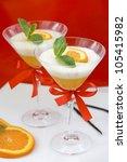 vanilla panna cotta with orange ... | Shutterstock . vector #105415982