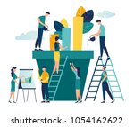 vector creative illustration of ... | Shutterstock .eps vector #1054162622