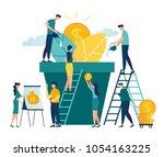 vector creative illustration of ... | Shutterstock .eps vector #1054163225