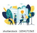 vector illustration. training... | Shutterstock .eps vector #1054171565
