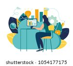 vector creative illustration of ... | Shutterstock .eps vector #1054177175