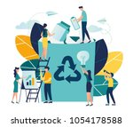 vector creative illustration of ... | Shutterstock .eps vector #1054178588