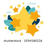 vector illustration on white... | Shutterstock .eps vector #1054180226