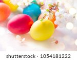 Easter. Colorful Easter Eggs...