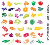 fruits and vegetables vector... | Shutterstock .eps vector #105418502