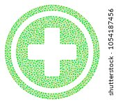 pharmacy mosaic of round dots... | Shutterstock . vector #1054187456