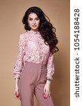 beautiful sexy woman long... | Shutterstock . vector #1054188428