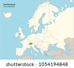 europe map  switzerland  | Shutterstock .eps vector #1054194848
