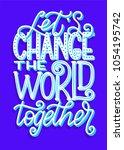vector hand lettered... | Shutterstock .eps vector #1054195742