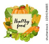 healthy food banner... | Shutterstock . vector #1054196885
