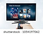 video on demand vod application ... | Shutterstock . vector #1054197062