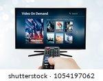 video on demand vod application ... | Shutterstock . vector #1054197062