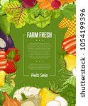 fresh farm food banner... | Shutterstock . vector #1054199396
