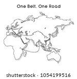 """one belt one road"" new silk... | Shutterstock .eps vector #1054199516"