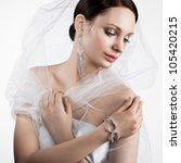 Beautiful Bride Wearing A...