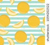 ripe yellow whole and cut... | Shutterstock .eps vector #1054202522