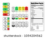 nutrition facts information... | Shutterstock .eps vector #1054204562
