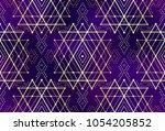 gold violet seamless sacred...   Shutterstock .eps vector #1054205852