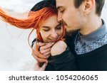 portrait of a young couple in... | Shutterstock . vector #1054206065