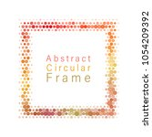 frame with confetti background.... | Shutterstock .eps vector #1054209392