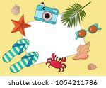 vector layout on the theme of... | Shutterstock .eps vector #1054211786