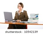 young surprised businesswoman... | Shutterstock . vector #10542139