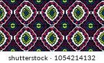 ikat geometric folklore... | Shutterstock .eps vector #1054214132