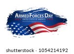 armed forces day template... | Shutterstock .eps vector #1054214192