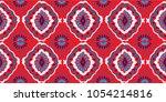 ikat geometric folklore... | Shutterstock .eps vector #1054214816
