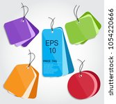 collection of colorful sale... | Shutterstock .eps vector #1054220666