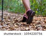 close up of female hiker feet... | Shutterstock . vector #1054220756