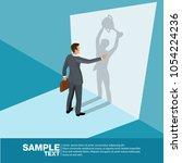 isometric the winner. concept... | Shutterstock .eps vector #1054224236
