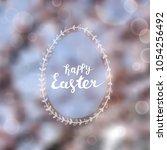 easter greeting card  gentle...   Shutterstock .eps vector #1054256492