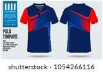 red blue polo t shirt sport... | Shutterstock .eps vector #1054266116