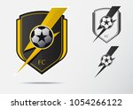 soccer or football badge logo... | Shutterstock .eps vector #1054266122