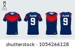 red blue t shirt sport design... | Shutterstock .eps vector #1054266128