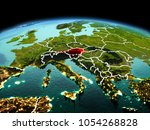 morning above austria... | Shutterstock . vector #1054268828