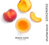 creative layout made of peach... | Shutterstock . vector #1054290932
