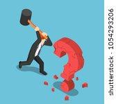 flat 3d isometric businessman... | Shutterstock .eps vector #1054293206