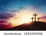 Silhouette Cross On Calvary...
