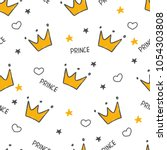 hand drawn seamless pattern... | Shutterstock .eps vector #1054303808