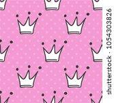 hand drawn seamless pattern... | Shutterstock .eps vector #1054303826