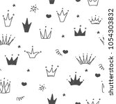 hand drawn seamless pattern... | Shutterstock .eps vector #1054303832