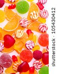 colorful jelly candies... | Shutterstock . vector #105430412
