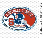 american football logo design... | Shutterstock .eps vector #1054310585