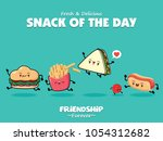 vintage food poster design with ... | Shutterstock .eps vector #1054312682