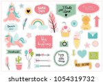 set of colorful scrapbooking... | Shutterstock .eps vector #1054319732