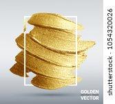 golden grunge texture. vector ... | Shutterstock .eps vector #1054320026