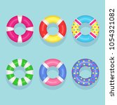 set of swimming rubber... | Shutterstock .eps vector #1054321082
