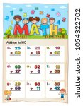math worksheet design for... | Shutterstock .eps vector #1054322702